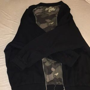 Forever 21 Black/ camo reversible jacket